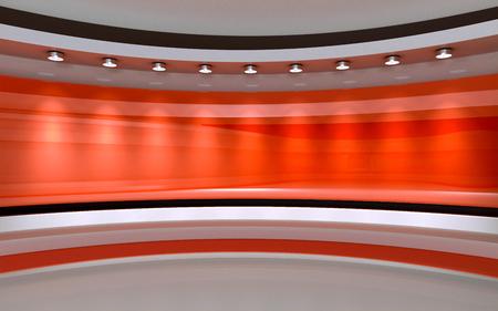 Photo pour Red Studio. Red backdrop. 3d rendering - image libre de droit