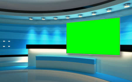 Photo for Studio The perfect backdrop for any green screen or chroma key video production, and design. 3d rendering - Royalty Free Image