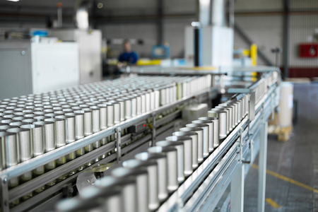 Photo for conveyor for the production of cans - Royalty Free Image