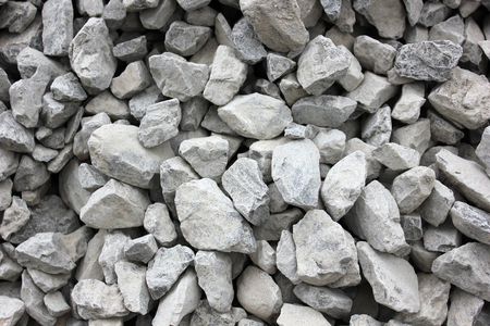 Gray gravel for laying of asphalt roads and filling of emptiness