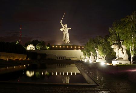 Greatest sculpture in the world Motherland on Mamayev Kurgan in the city of Volgograd