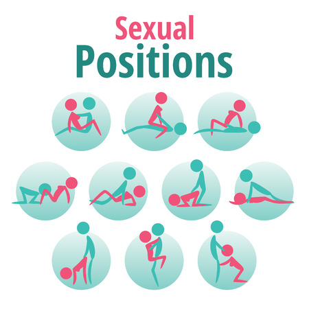 Infographics template - sexual positions, kama sutra