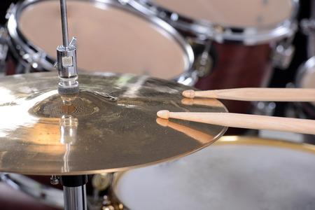Drum kit isolated on white background. studio shot