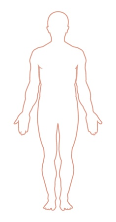 Male Body Outline Vector Illustration