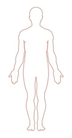 Illustration pour Male body outline. Vector illustration - image libre de droit