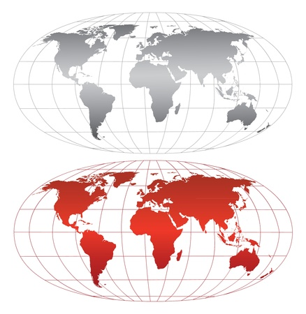 High detailed world map.Separate layers