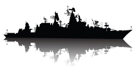 Soviet  russian  guided missile cruiser  silhouette