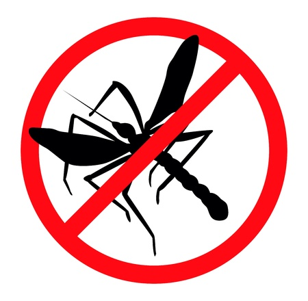 Mosquito silhouettes isolated. Insect repellent emblem