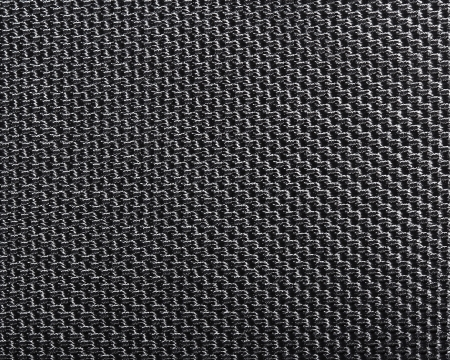 Black polyester texture background  Close up