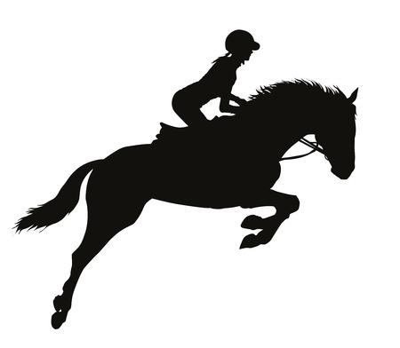 Ilustración de Rider on a horseback - Imagen libre de derechos