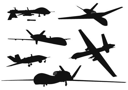 Illustration pour Weapon. Drones set - image libre de droit