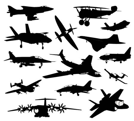 Illustration for Vector aircrafts set - Royalty Free Image