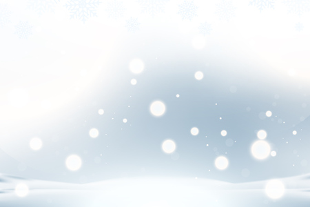 Photo pour Christmas and New Year background with snowflakes and light effects on a blue background. Flat vector illustration EPS10. - image libre de droit