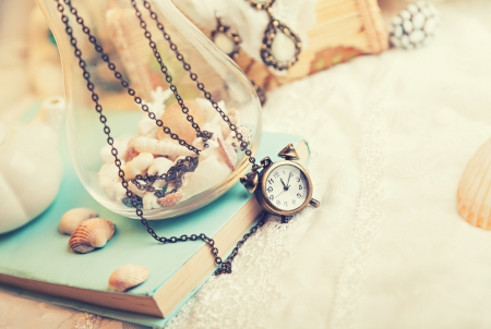 Vintage background with watch