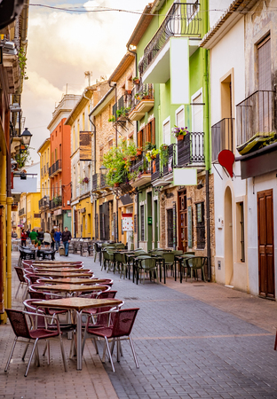 Foto de A street of old town in Europe. - Imagen libre de derechos
