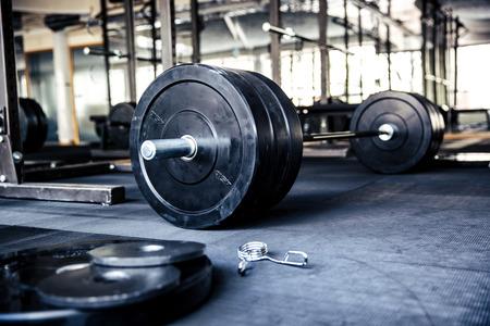 Foto de Closeup image of a fitness equipment in gym - Imagen libre de derechos