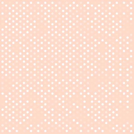 Ilustración de Seamless white polka dots pattern over pink. Vector illustration - Imagen libre de derechos
