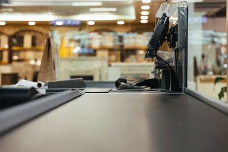 Photo for Empty cashier work place at the supermarket - Royalty Free Image