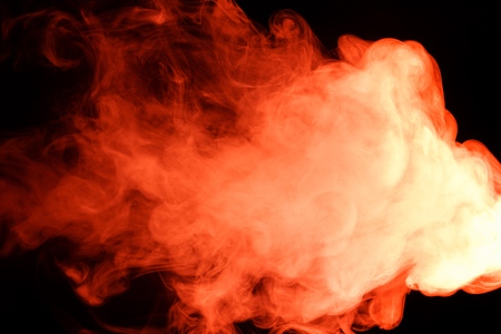 Photo for Abstract art. Red smoke hookah on a black background. Inhalation. The steam generator. The concept of poison gas. Gas. - Royalty Free Image