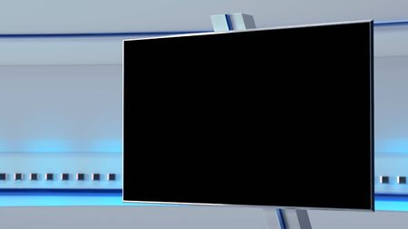 Photo for TV Virtual Studio background 3d illustration - Royalty Free Image