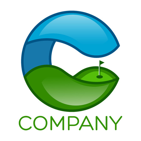 Golf and C company linked letter logo