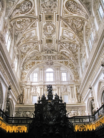 Inside the cathedral of Cordoba (The Mosque)