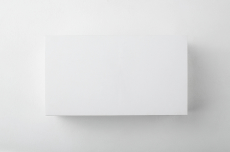 Photo for Blank white box top view with shadow - Royalty Free Image