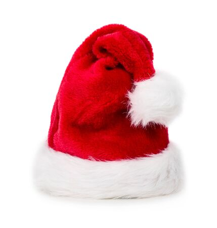 Photo pour Red Christmas santa hat isolated on white background - image libre de droit
