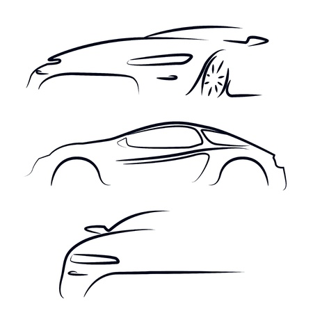 Silhouette of car  Vector illustration