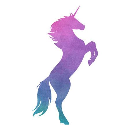 Foto per Colorful unicorn. Vector illustration - Immagine Royalty Free