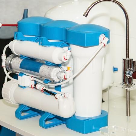Photo pour Water purification system. Domestic reverse osmosis filter - image libre de droit