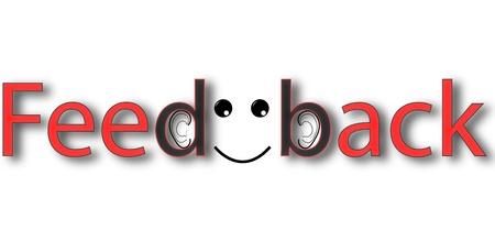 Illustration pour Red black feedback banner on white background - image libre de droit