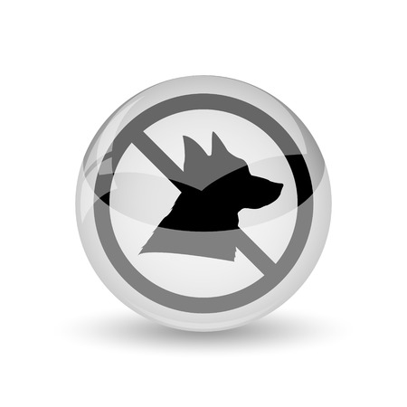 Forbidden dogs icon. Internet button on white background