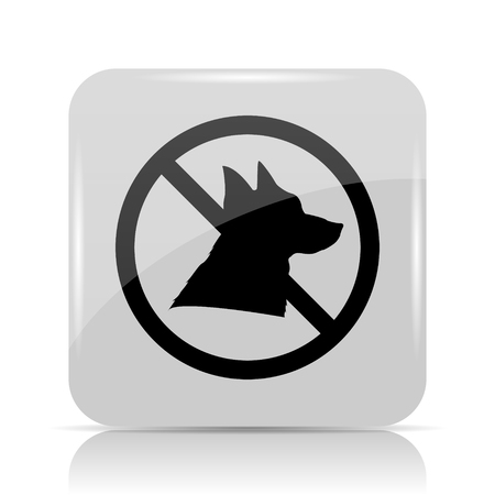Forbidden dogs icon. Internet button on white background.