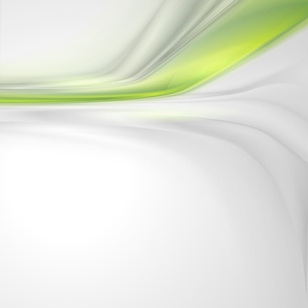 Grey soft abstract background with green element