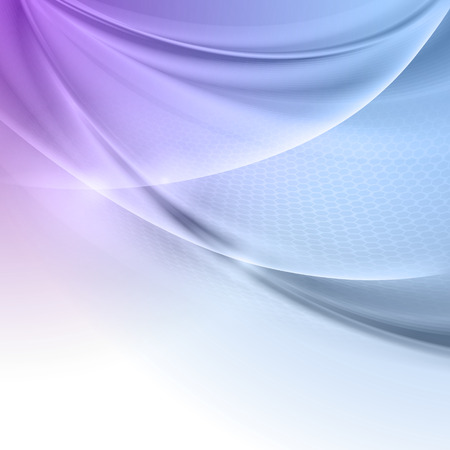 Photo pour Abstract blue purple wave vector background - image libre de droit