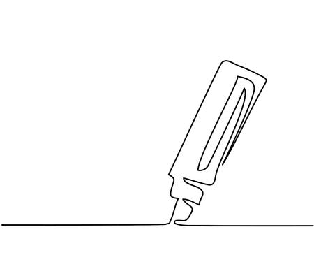 Illustration pour Marker business icon. Continuous thin line drawing. illustration - image libre de droit