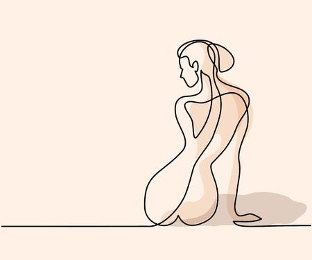 Illustration pour Woman's back icon. - image libre de droit