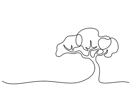 Illustration pour Continuous line drawing. - image libre de droit
