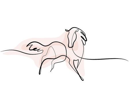 Ilustración de Continuous one line drawing. - Imagen libre de derechos