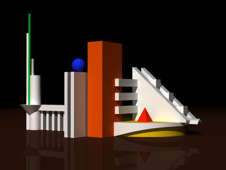 Architectural abstract 3d model