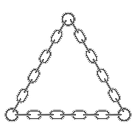 Chain Triangle Frame Isolated on White Background