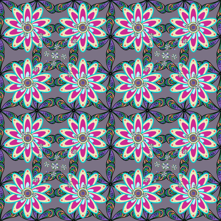 Seamless floral pattern. Vector abstract floral background. Seamless pattern with many small flowers.