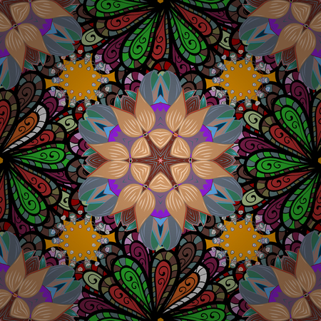 Flowers abstractly placed vector illustration.