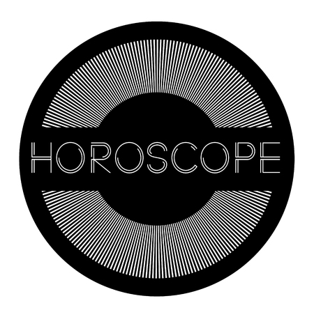 horoscope label on white background