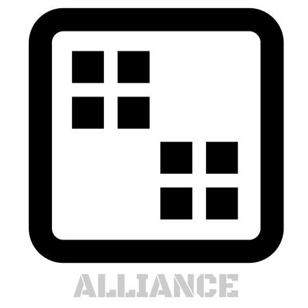 Alliance concept icon on white flat illustration.