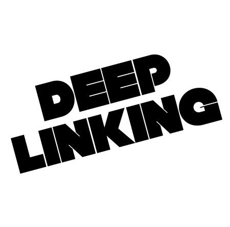 Deep linking stamp on white background. Sign, label, sticker