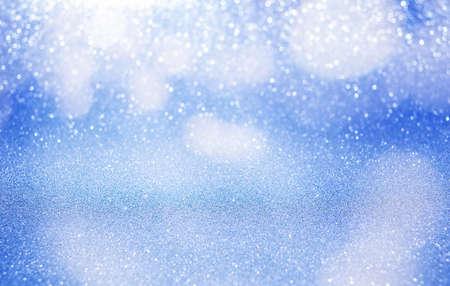 Foto de blue glitter background with bokeh. defocus background - Imagen libre de derechos