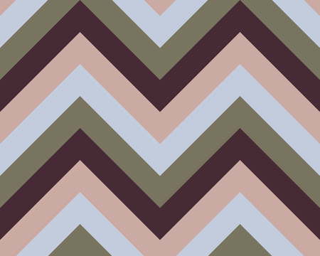 Striped, zigzagging seamless pattern. Zigzag line texture. Stripy geometric background. Brown, gray, beige olive colored. Vector