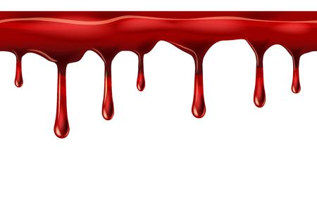Illustration pour Dripping seamless red, dripps, liquid drop and splash - image libre de droit